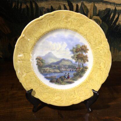 English Pratt pottery printed plate of 'Wales', c. 1860-0
