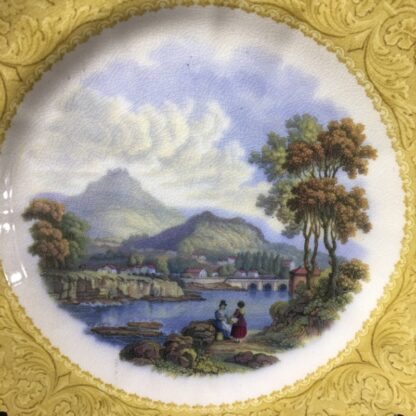 English Pratt pottery printed plate of 'Wales', c. 1860-31219