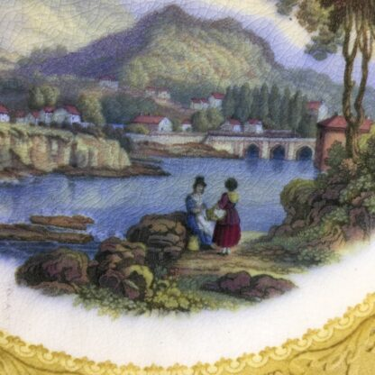 English Pratt pottery printed plate of 'Wales', c. 1860-31221