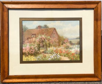 Affleck, William: A Country Cottage, watercolour circa 1870 -31525