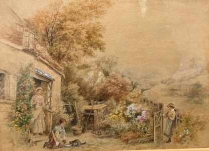 Birket-Foster, Miles:'The Thatched Cottage', Watercolour, later 19th century -31537