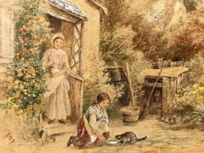 Birket-Foster, Miles:'The Thatched Cottage', Watercolour, later 19th century -31540