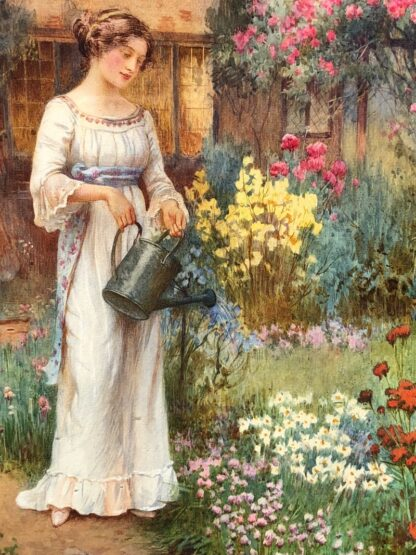 Affleck, William: Watering the Garden, Watercolour c. 1870-31531