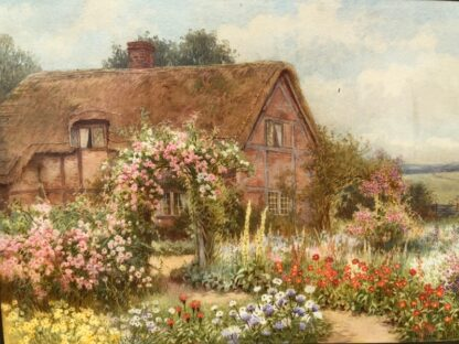 Affleck, William: A Country Cottage, watercolour circa 1870 -0