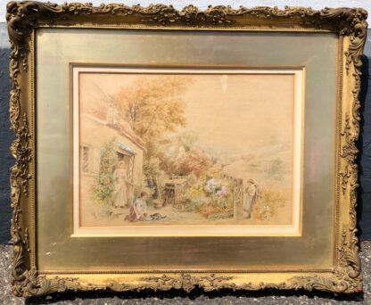 Birket-Foster, Miles:'The Thatched Cottage', Watercolour, later 19th century -0