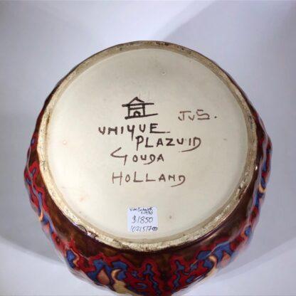 Large Gouda vase, signed by Johannes van Schaick, copper lustre c. 1930. -31499