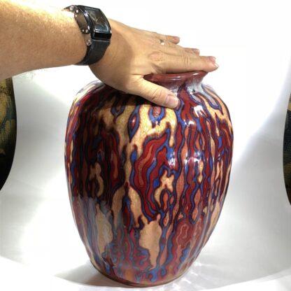 Large Gouda vase, signed by Johannes van Schaick, copper lustre c. 1930. -31494