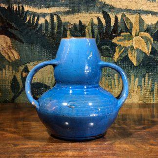 Brannam Art Nouveau twin handled vase, c. 1910-0