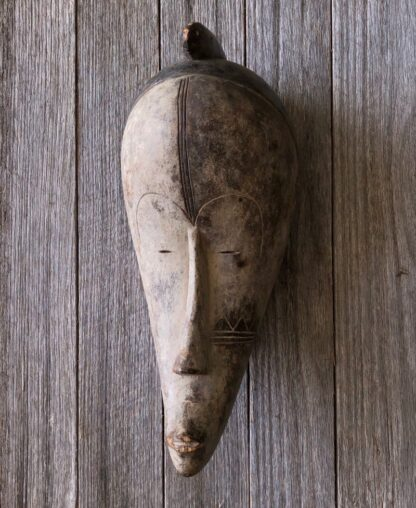 African mask, stylised face, Fang Ngil tribe, Gabon, 20th century. -31479