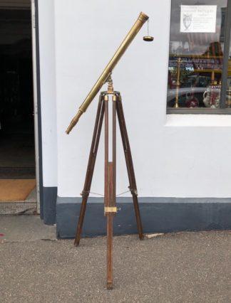 Brass telescope on stand, 20th century. -0