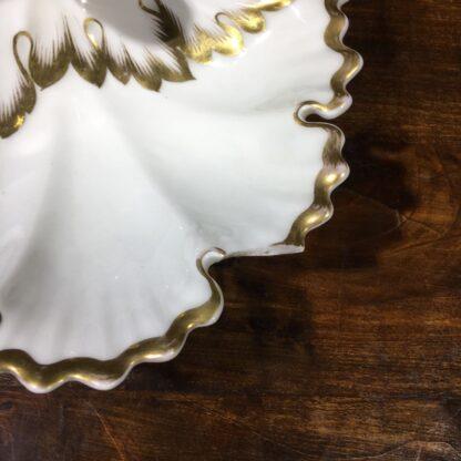 KPM porcelain serving dish, triple leaf form, c. 1880. -32097