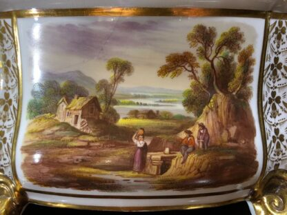 Pair of Derby bough pots, 'View in Wales' & 'View in Derbyshire', c.1825-32138