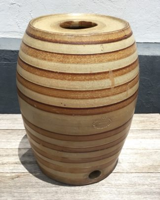 Bendigo Pottery stoneware spirit barrel, circa 1880. -0