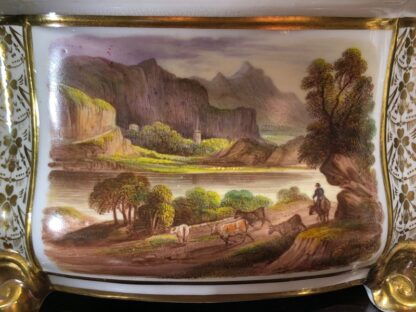 Pair of Derby bough pots, 'View in Wales' & 'View in Derbyshire', c.1825-32137