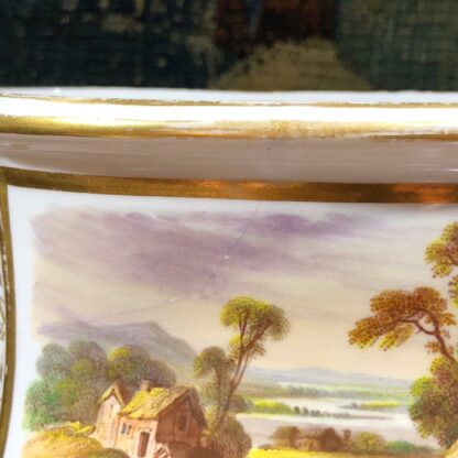 Pair of Derby bough pots, 'View in Wales' & 'View in Derbyshire', c.1825-32125