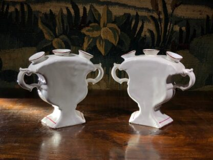 Pair of French Faience quintals, probably Luneville, 19th century -32102