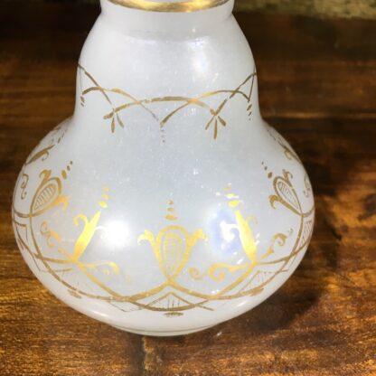 Victorian milk glass perfume decanter, c.1860-32175