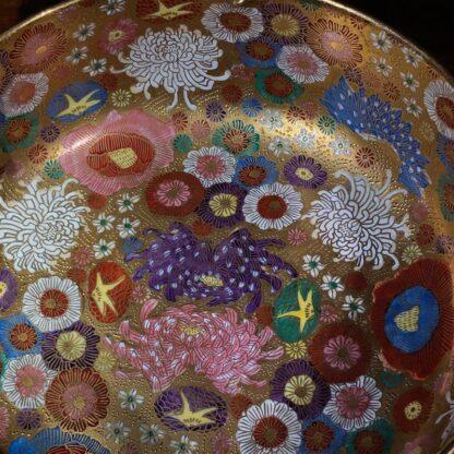 Japanese Satsuma bowl with rich 'Thousand Flower' pattern, c.1920-32528