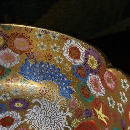 Japanese Satsuma bowl with rich 'Thousand Flower' pattern, c.1920-32532