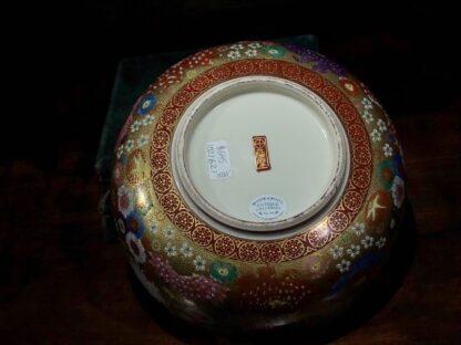 Japanese Satsuma bowl with rich 'Thousand Flower' pattern, c.1920-32521