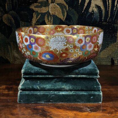 Japanese Satsuma bowl with rich 'Thousand Flower' pattern, c.1920-32533