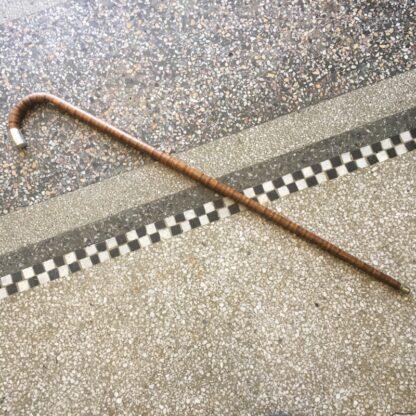 Australian woods walkingstick, sterling mounts, c. 1920. -0
