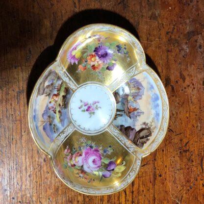 Helena Wolfson Dresden chocolate cup & saucer, Meissen style, c. 1880-33441