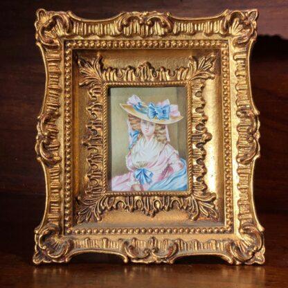 Portrait miniature on Ivory, Portrait of a Lady, 20th century -0