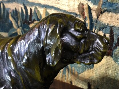 Bronze basset hound, after Jules Moigniez, early 20th century -33535