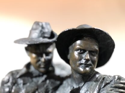 Simpson and his Donkey, ANZAC WWI memorial Bronze figure by Peter Corlett, 1988-33516