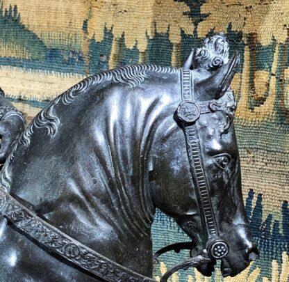 Bronzed figure of Bartolomeo Colleoni, after del Verrocchio, 1496. 19th/20th Century. -33523