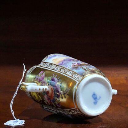 Helena Wolfson Dresden chocolate cup & saucer, Meissen style, c. 1880-33428
