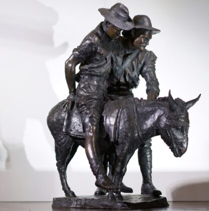 Simpson and his Donkey, ANZAC WWI memorial Bronze figure by Peter Corlett, 1988-33498