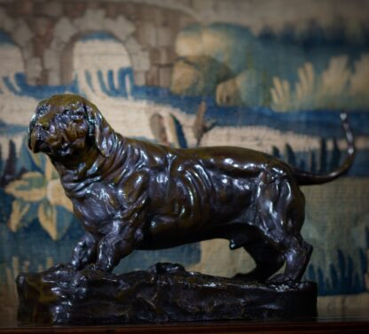 Bronze basset hound, after Jules Moigniez, early 20th century -33496