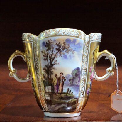 Helena Wolfson Dresden chocolate cup & saucer, Meissen style, c. 1880-33429