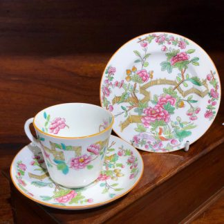 Copeland SPODE cup saucer plate, Peony Rose pattern, c.1895-0