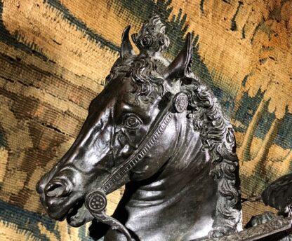 Bronzed figure of Bartolomeo Colleoni, after del Verrocchio, 1496. 19th/20th Century. -33521