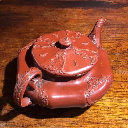 German Rococo red pottery tea service, Schiller & Gerbing, Bodenbach, c. 1840-33370