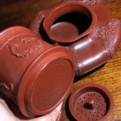 German Rococo red pottery tea service, Schiller & Gerbing, Bodenbach, c. 1840-33364