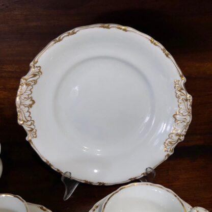 Copeland & Garrett tea service, setting for 6 with simple gilt, c. 1840 -33095