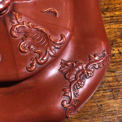 German Rococo red pottery tea service, Schiller & Gerbing, Bodenbach, c. 1840-33372