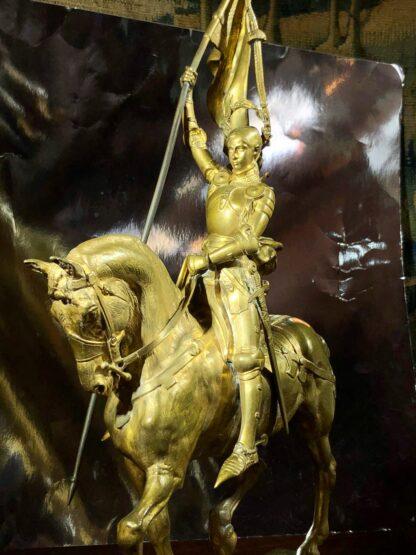 Barbedienne gilt bronze figure of Joan of Ark, after Emmanuel Frémiet, c. 1880 -33491