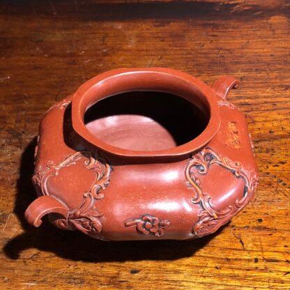 German Rococo red pottery tea service, Schiller & Gerbing, Bodenbach, c. 1840-33379