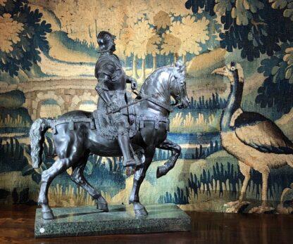 Bronzed figure of Bartolomeo Colleoni, after del Verrocchio, 1496. 19th/20th Century. -33525