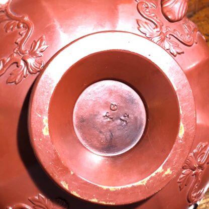 German Rococo red pottery tea service, Schiller & Gerbing, Bodenbach, c. 1840-33380