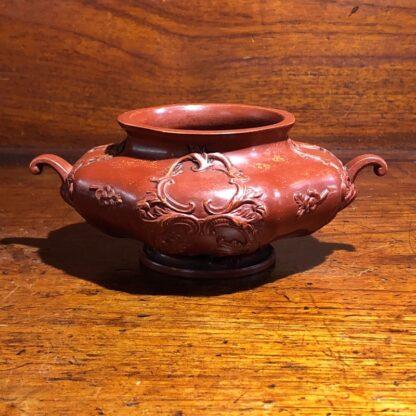 German Rococo red pottery tea service, Schiller & Gerbing, Bodenbach, c. 1840-33382