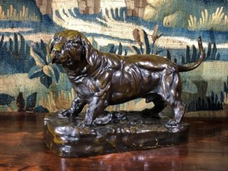 Bronze basset hound, after Jules Moigniez, early 20th century -0