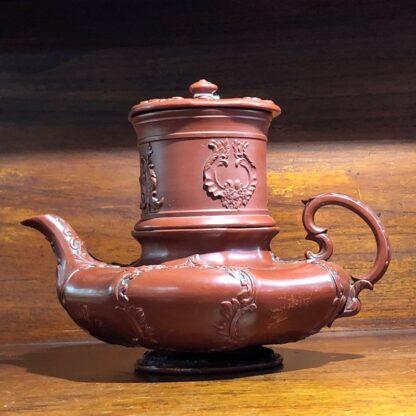 German Rococo red pottery tea service, Schiller & Gerbing, Bodenbach, c. 1840-33363