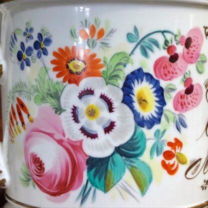 Porcelain presentation mug - John Wooley 'How I love a Drop of Drink' c.1850 -33125
