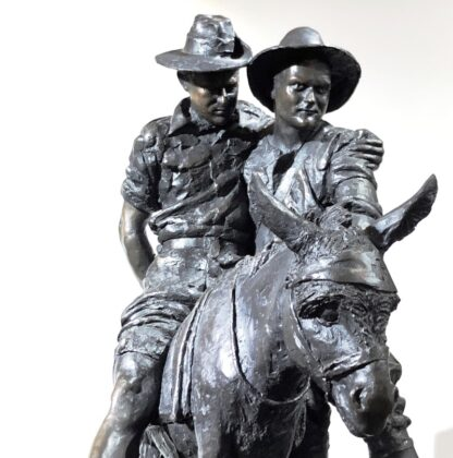 Simpson and his Donkey, ANZAC WWI memorial Bronze figure by Peter Corlett, 1988-33494